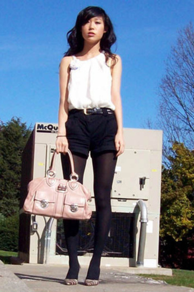 forever 21 top - H&M shorts - Marc Jacobs purse
