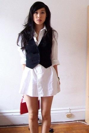Ralph Lauren shirt - D&G vest - Louis Vuitton purse
