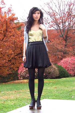 Nordstrom top - forever 21 skirt - Jeffrey Campbell shoes