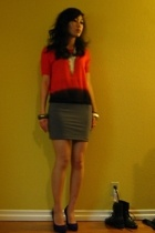 Theory sweater - H&M skirt - Urban Outfitters necklace