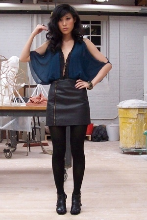 Miguelina top - urban outiftters skirt - forever 21 shoes
