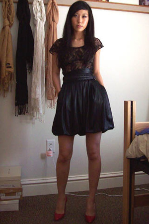 H&M top - forever 21 skirt - Christian Louboutin shoes
