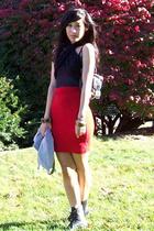 scarf - American Apparel dress