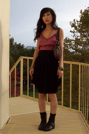 Nordstrom top - forever 21 skirt - Ovation shoes