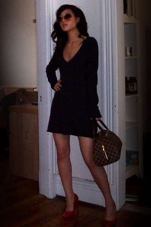 Splendid dress - Louboutin shoes - Louis Vuitton purse - Oliver Peoples glasses