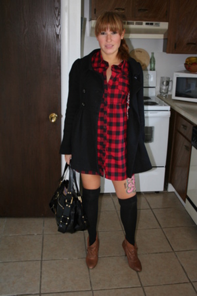 Forever21 dress - Target tights - Nine West shoes - Jimmy Choo purse