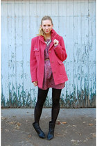 pink Elizabeth and James dress - hot pink unknown brand coat