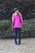 JBrand jeans - asos hat - Zara sweater - next scarf - Lauren Elan accessories