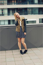 black Aldo boots - olive green bloomingdales jacket