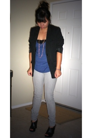 H&M blazer - American Apparel top - BDG jeans - American Apparel intimate - Targ