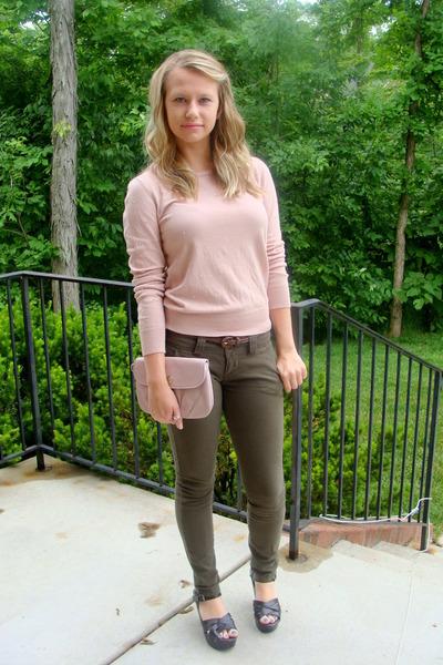 Primark sweater - coach purse - Forever 21 pants - Target heels - Forever 21 bel