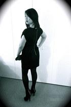 black embellished Forever 21 boots - black Forever 21 dress