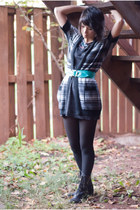 Urban Outfitters dress - Target cardigan - Dolce Vita for Target boots - vintage