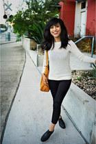 baggu bag - wool APC sweater - Zara pants - Urban Outfitters loafers