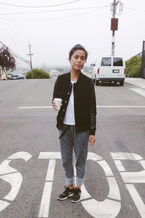 Forever 21 jacket - everlane t-shirt - H&M pants - nike sneakers
