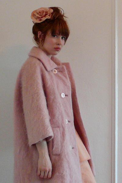 pink vintage dress - pink vintage coat