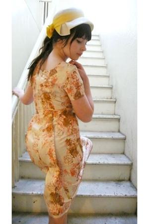 vintage hat - vintage dress
