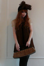 Brown-vintage-hat-brown-vintage-dress-brown-vintage-purse-black-american-a