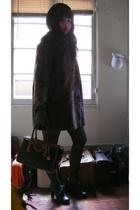 vintage coat - Dooney and Bourke purse - vintage gloves