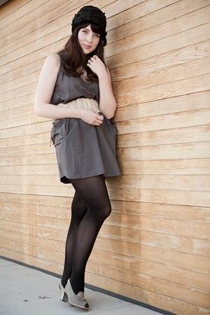 gray summer Quiksilver dress - gray vintage shoe vintage shoes