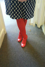 Red-american-apparel-hat-navy-vintage-dress-red-ebay-tights
