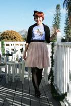 peach tutu style olsenboye skirt - black patent bow Office via Ebay shoes