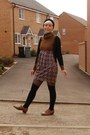 Tawny-brogues-primark-shoes-tawny-wool-mix-h-m-dress