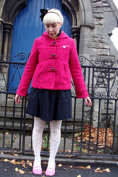 polkadot H&M tights - cotton Zara dress - duffel Animal jacket