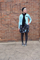 chinoiserie Primark skirt - turban lomography hat - Primark tights
