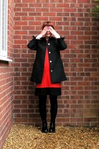 black patent leather doc martens boots - red Marks and Spencer dress