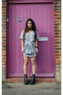 Black-missguided-boots-heather-gray-missguided-dress