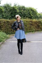 new look skirt - Bershka boots - Zara shirt