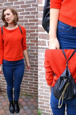Zara jumper - h&m divided jeans - H&M bag