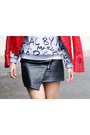 Mango-jacket-choies-skirt-sheinside-sweatshirt-zara-heels
