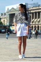 riverisland skirt - vintage blouse