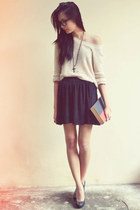 knitted jumper - cotton on skirt - black platform People are People pumps - blac