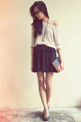 Knitted-jumper-cotton-on-skirt-black-platform-people-are-people-pumps-blac