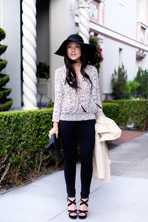 floppy hat H&M hat - skinny Henry & Belle jeans - platform Forever 21 sandals