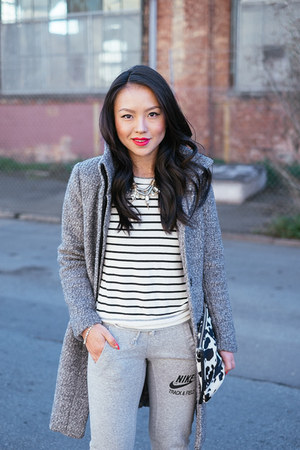 boucle H&M jacket - sweatpants nike pants