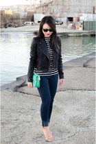 motorcycle free people jacket - striped Forever 21 t-shirt