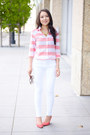White-distressed-asos-jeans-red-stripes-banana-republic-shirt