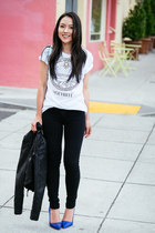 graphic tee Zara t-shirt - skinny jeans Henry & Belle jeans