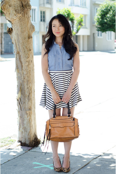 skater skirt cotton on skirt - color block Rebecca Minkoff bag