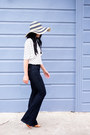 Wide-leg-mih-jeans-jeans-floppy-hat-target-hat-polka-dot-zara-blouse