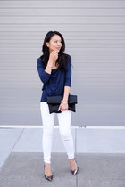 white skinny jeans asos jeans - cowl Noisy May blouse