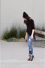 Beanie-asos-hat-oversized-forever-21-shirt-lace-up-zara-heels