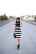 lace-up dvf heels - stripes Zara dress