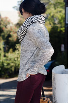 oversized Forever 21 sweater - stripes American Apparel scarf