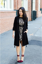 lace Zara dress - trench hm jacket - ankle strap LAMB heels