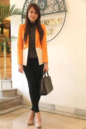 Cache Cache blazer - Louis Vuitton bag - Debenhams pumps - H&M top - Kenar pants